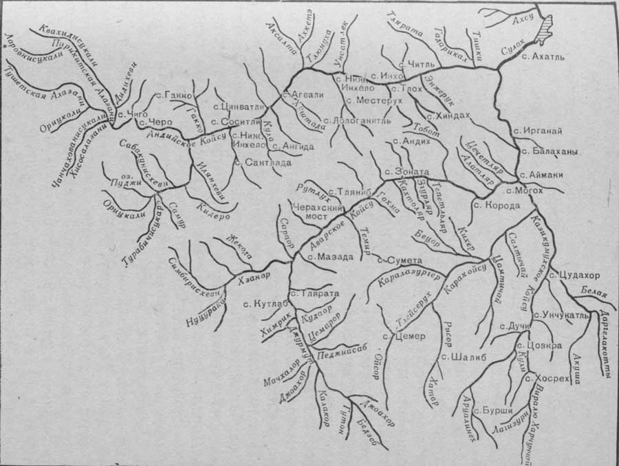 Схема бассейна реки Судак